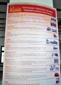 Foto tonggak sejarah perkeretaapian di Indonesia