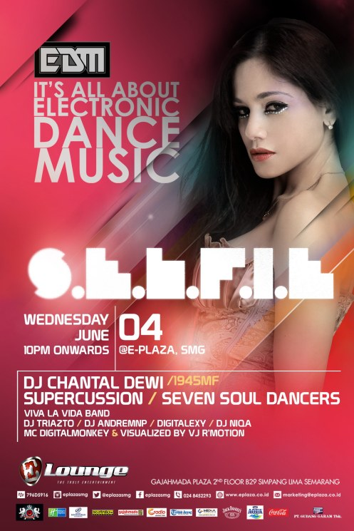 EDM Selfie Hadirkan DJ Chantal Dewi (1945MF) & Supercussion